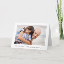 Elegant Frame Photo Father's Day Card