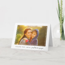 Elegant Frame Photo Mother's Day Card