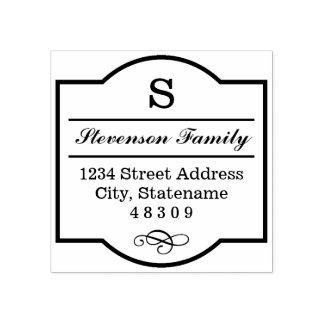 Elegant Frame | Return Address Rubber Stamp