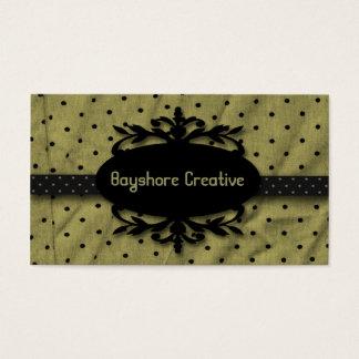 Elegant Frame Sage Black Business Card