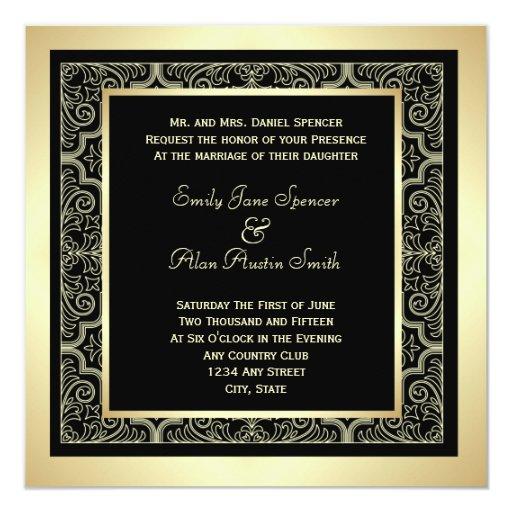 Elegant Frame Wedding Invitation