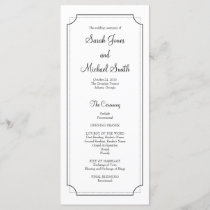 Elegant Frame Wedding Program