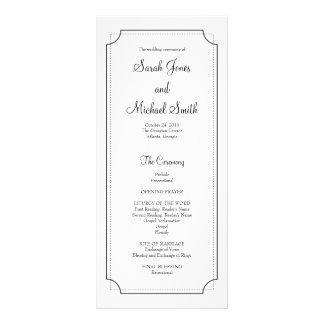 Elegant Frame Wedding Program