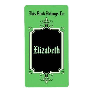 Elegant Framed Book Plate Shipping Label