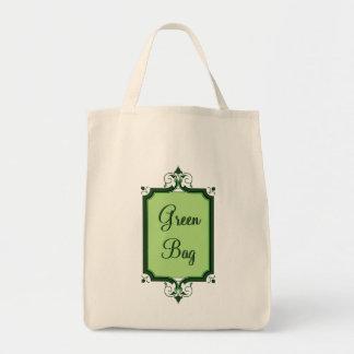 Elegant Framed Green Tote Bag