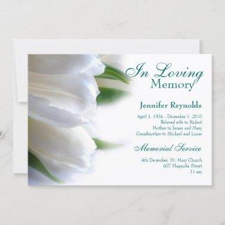 Elegant Framed Photo Memorial Funeral Service Invitation