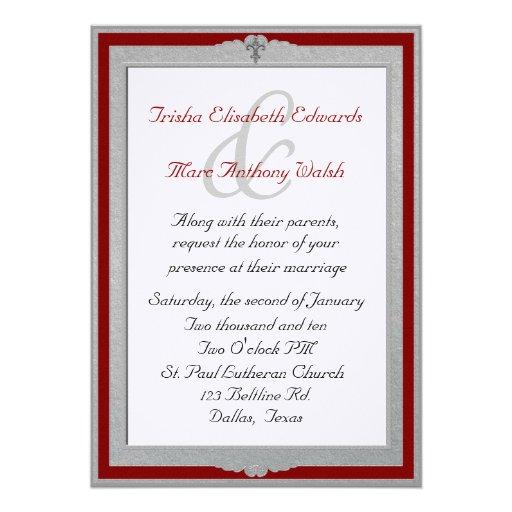 Elegant Framed Wedding Invitation 5 X 7 Invitation Card Zazzle