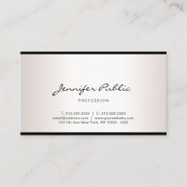 Elegant Freehand Script Modern Simple Professional Business Card