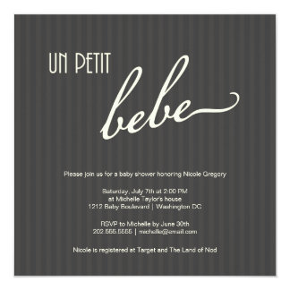Elegant French Baby Shower Card