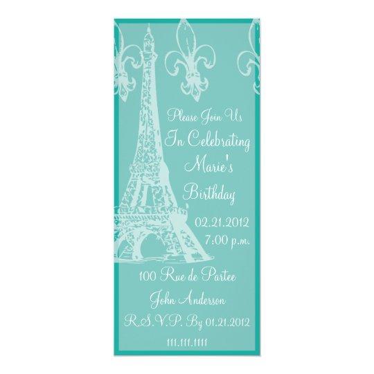 Elegant french birthday celebration party invitation zazzle elegant french birthday celebration party invitation stopboris Choice Image
