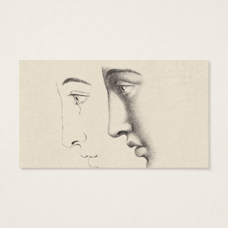 Elegant French Classical Faces Interior Decorator Business Card