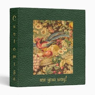 Elegant French Country Bird Floral Pattern Binder