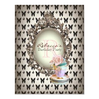 elegant french cupcake vintage birthday party card