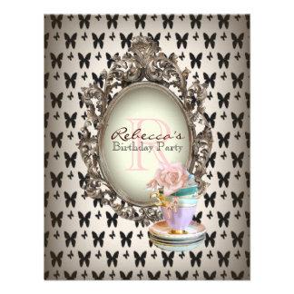 elegant french cupcake vintage birthday party custom invites