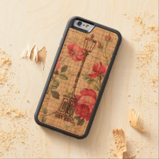 Elegant French Decorative Roses Vines Lamp Mum Art Carved® Cherry iPhone 6 Bumper Case