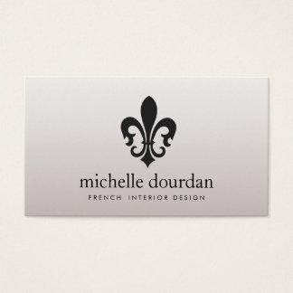 Elegant French Interior Designer Fleur De Lis 2 Business Card
