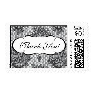 Elegant French Lace Thank You Wedding Postage
