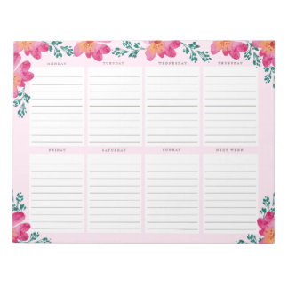 Elegant French Pink Business Personalized Trendy Notepad