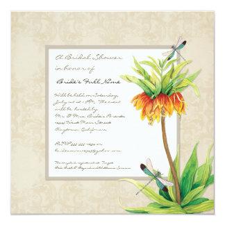 Elegant Fritillaria n Dragonfly Bridal Shower Card