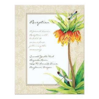 Elegant Fritillaria n Dragonfly Reception Invite