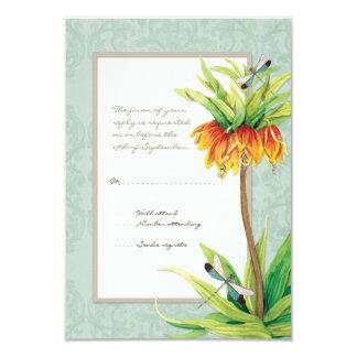 Elegant Fritillaria n Dragonfly RSVP Response Card
