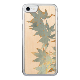 Elegant Frosted Autumn Maple Leaves Garland Carved iPhone 8/7 Case