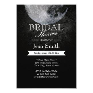 Elegant Full Moon Night Bridal Shower Invitations