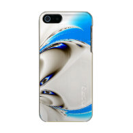 Elegant Fun Fractal Touch of Blue Incipio Feather® Shine iPhone 5 Case