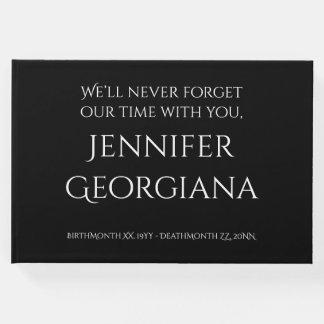 Elegant Funeral/Memorial Guest Book