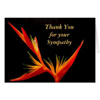 Elegant Funeral Sympathy Thank You Card