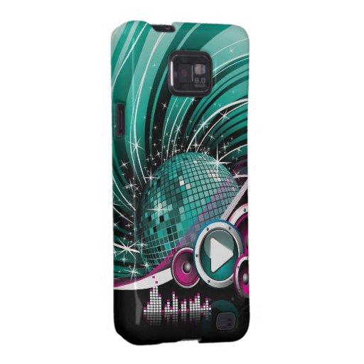 Elegant Funky Girly Disco Ball Vector Samsung Galaxy S2 Cases