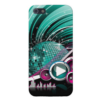 Elegant Funky Girly Disco Ball Vector Case For iPhone SE/5/5s