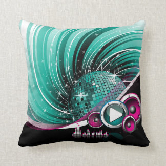 Elegant Funky Girly Disco Ball Vector Throw Pillow