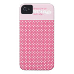 Elegant Funny Polka Dot Wedding Cell Phone Case iPhone 4 Case-Mate Cases