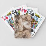 Elegant fur texture bicycle card deck