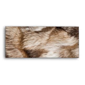 Elegant fur texture envelopes