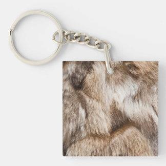 Elegant fur texture keychain