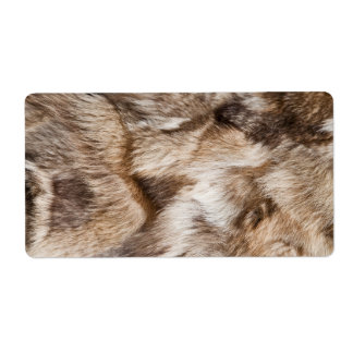 Elegant fur texture personalized shipping label
