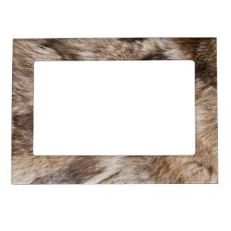 Elegant fur texture magnetic photo frame