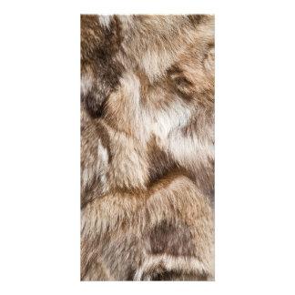 Elegant fur texture photo card template