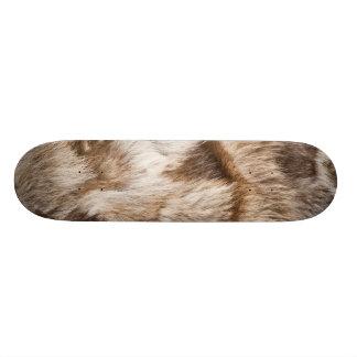 Elegant fur texture skate boards