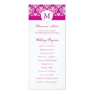 Elegant Fuschia Wedding Program Template Card