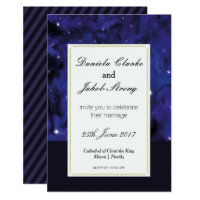 Elegant Galaxy Wedding Invitation