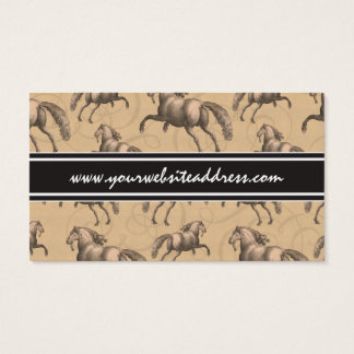 Elegant Galloping Spanish Horse Business Card