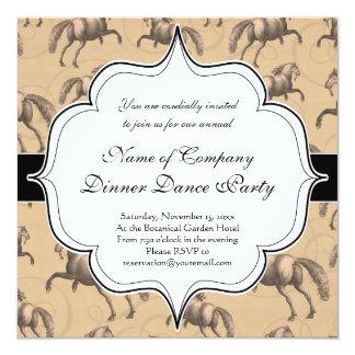 Elegant Galloping Spanish Horse Card