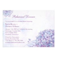 Elegant Garden Hydrangea Wedding Rehearsal Dinner Custom Invitation
