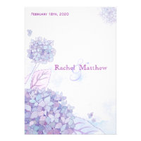 Elegant Garden Hydrangeas Floral Wedding Invites