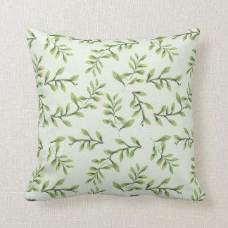 Elegant Garden Themed Branch graphic Pillow