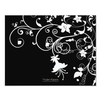 Elegant Garden White Flourish Invitation
