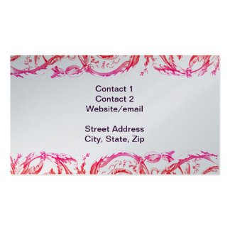 Elegant Garland Leaves & Swags Business Cards